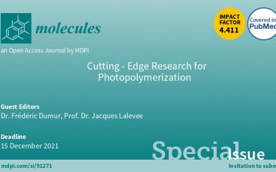 La photo-polymérisation: appel à contributions pour un numéro spécial de «molecules»